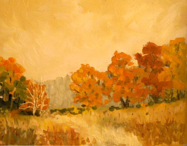 "Last of Fall 11"" X 14"" oil on canvas board"