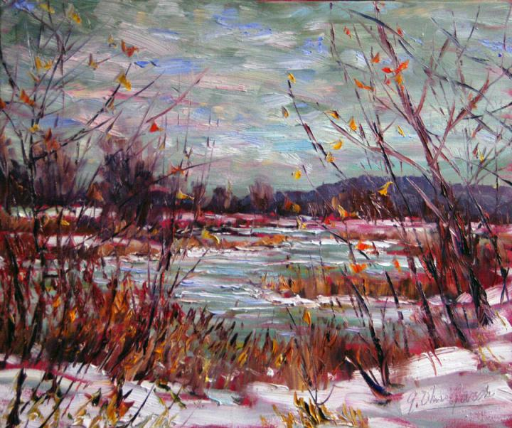 Afternoon-late-winter-20x24 plein air oil