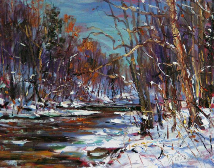 Valley-Sycamore-in-winter-16x20 plein air oil