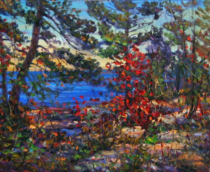 Georgian-Bay-shoreline-at-Killarney 20x24 plein air oil
