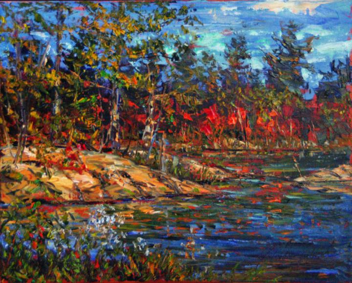 Killarney-Otter-Pond-16x20-plein air oil