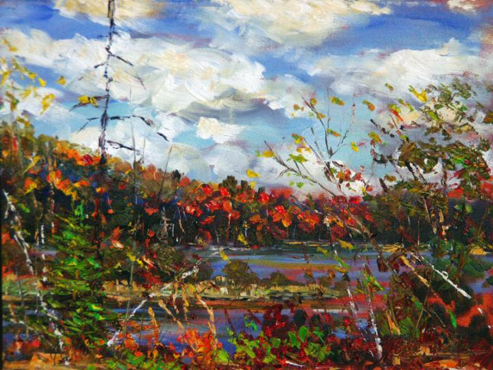 View-towards-Lake-of-Two-Rivers 12x16 plein air oil