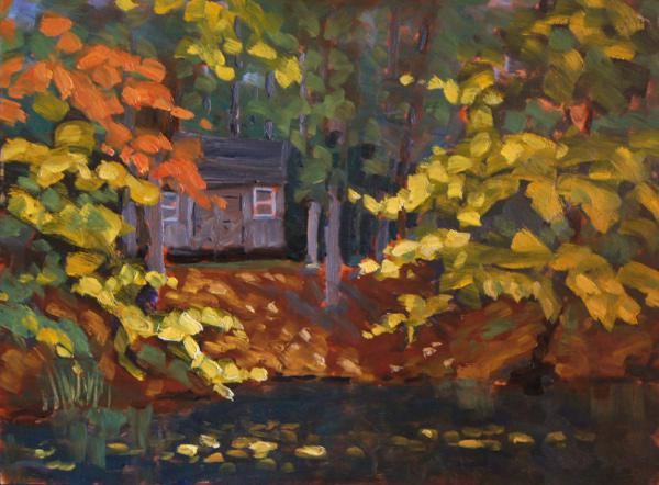 "Cameron's Pond 12"" X 16"" oil on hardboard"